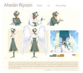 Aheran - reference sheet by Myebi