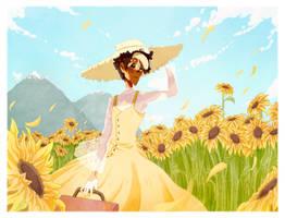 champ du tournesol by Myebi