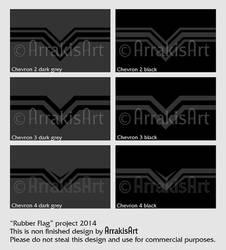 Rubber Flag Chevron2-3-4medium by arrakisart