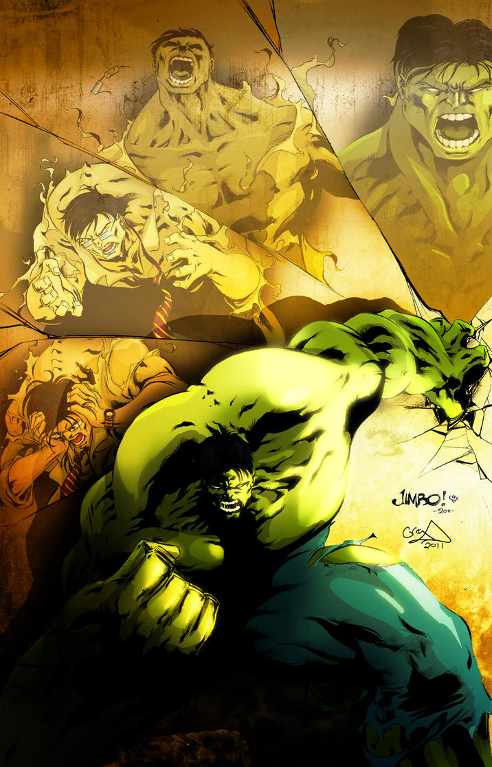 Hulk Digital Color by electrikALIEN