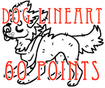 dog lineart - 60 points