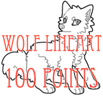 wolf lineart - 100 points