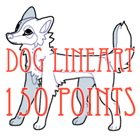 dog lineart - 150 points by levitzky