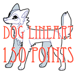 dog lineart - 150 points
