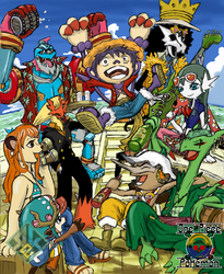 One Piece x Pokemon: Straw Hats Pirates by RekstheEnigma