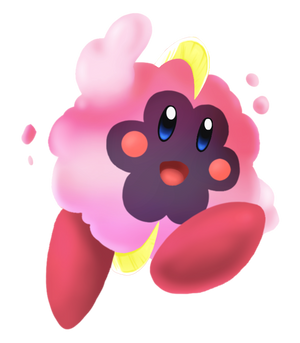 Kirby as Cosmog: by ChaeDal