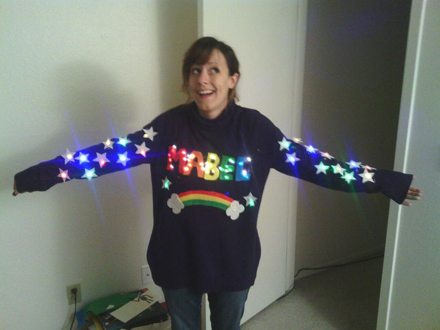 finished mabel sweater by