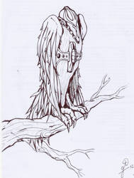 Bird from a strange world by charlaen