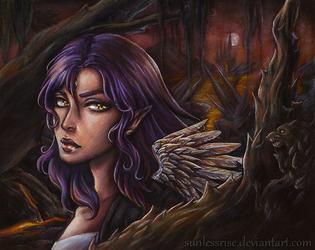 Angel in Tartarus by AvongaleArt