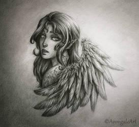 Fallen Angel by AvongaleArt