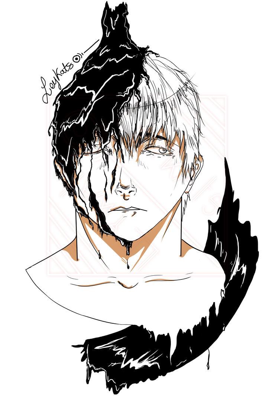 Drabbling boy by Leykats