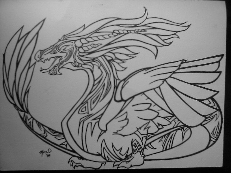 Tribal Dragon by HitokiriRouyakan