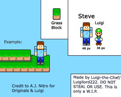 Minecraft Steve and Grass by Luigi-the-Chef