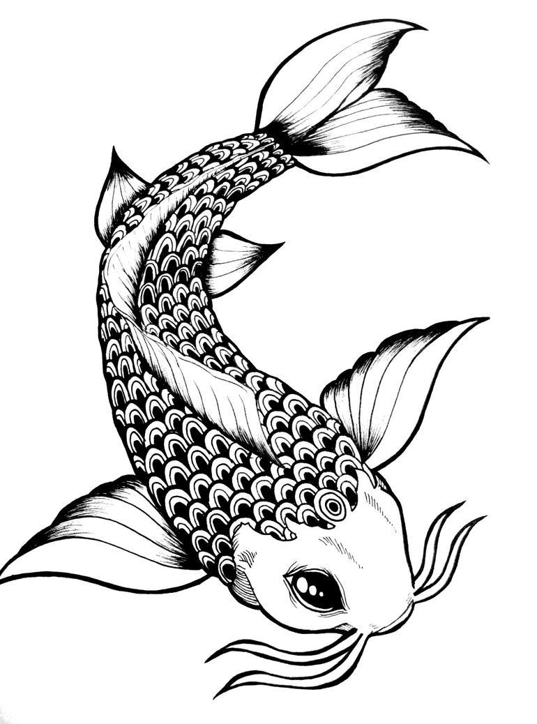 Koi fish by navoski on deviantart for Japanese koi fish drawing