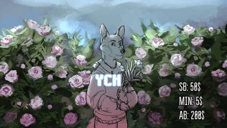 among peonies YCH auction - CLOSED