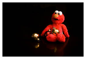 Elmo holiday card