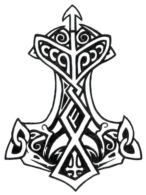 thors hammer tattoo