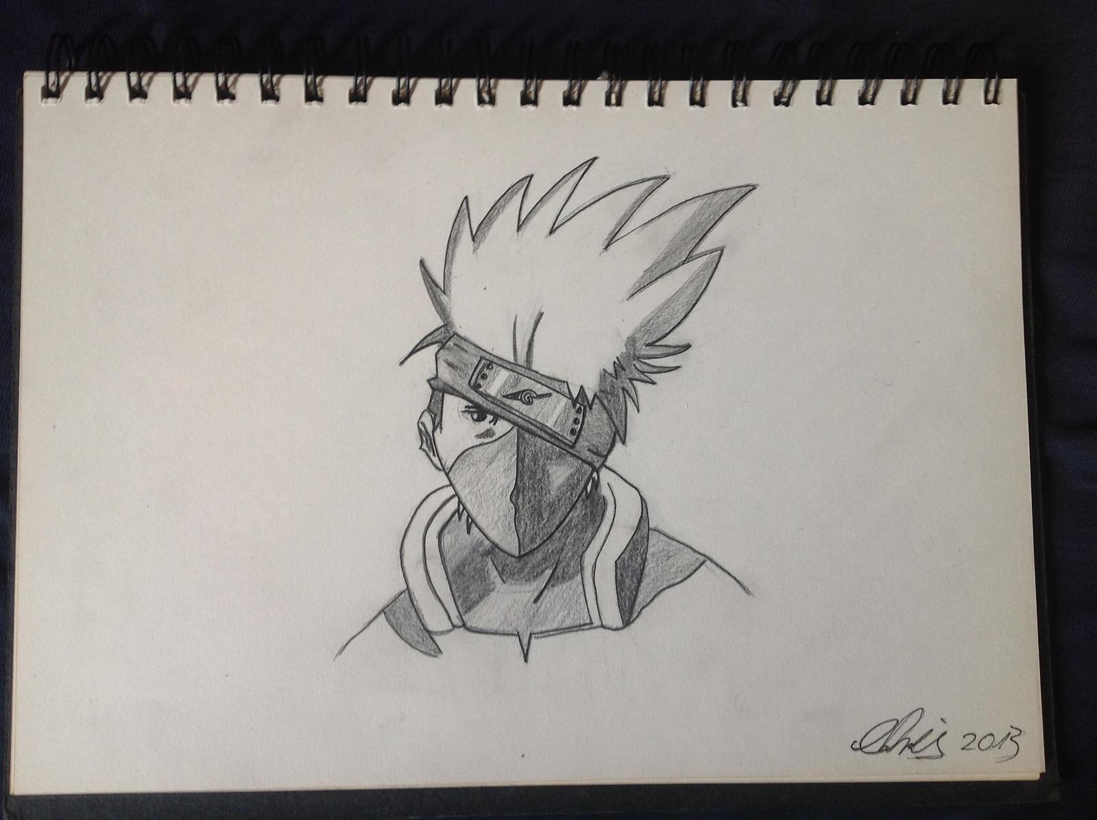 Cj Scribble Drawing : Kakashi hatake pencil sketch by otaku design on deviantart