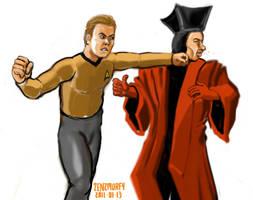 What if Kirk met Q? by zenzmurfy