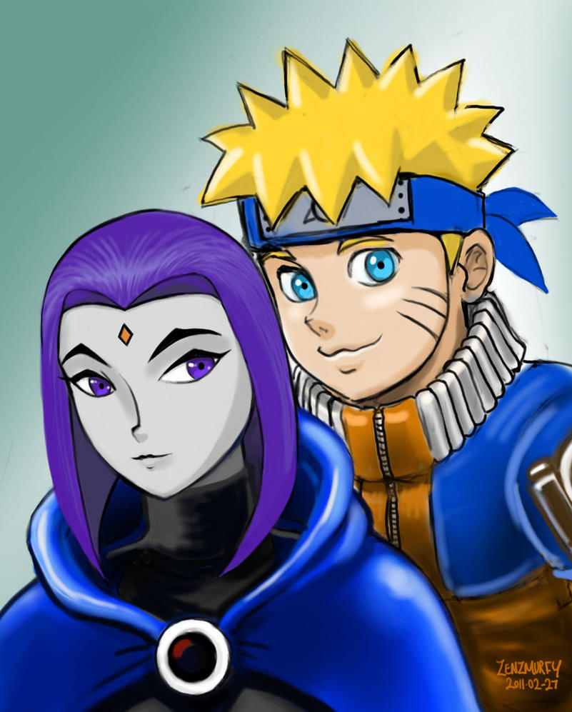 Naruto and Raven portrait by zenzmurfy