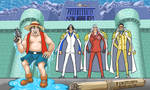 Fake Luffy vs the Three Admirals