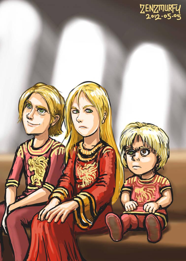 Tywin's Kids by zenzmurfy