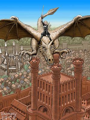 Daenerys - Heavy Metal Homage by zenzmurfy