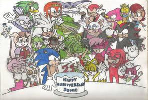 Happy 25th Anniversary, Sonic the Hedgehog! by ClariceElizabeth
