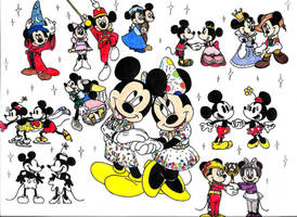 Mickey and Minnie's 90th Anniversary by ClariceElizabeth