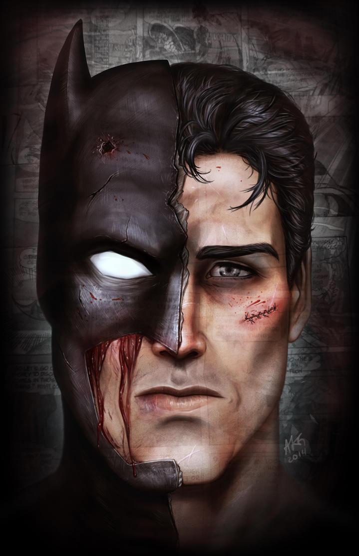 Bruce vs. Bat by ADDICT-Se