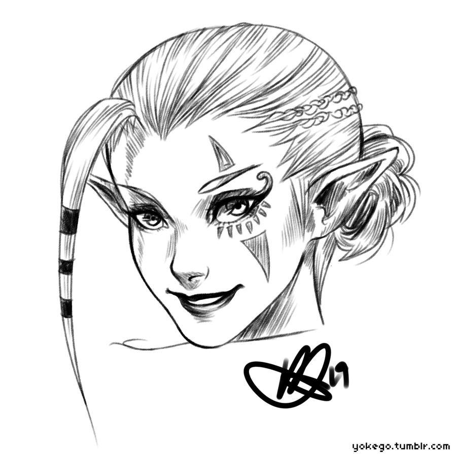 Impa Sketch by mi-lann