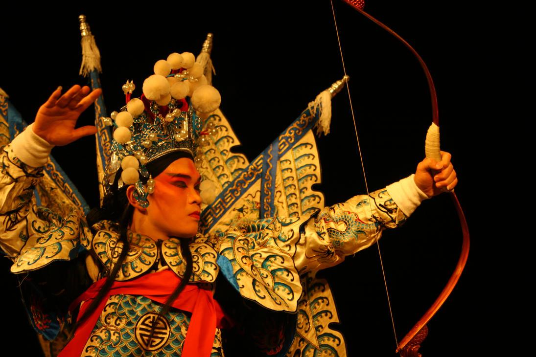 Sichuan Opera Chuanju Performer Chongqing China by davidmcb