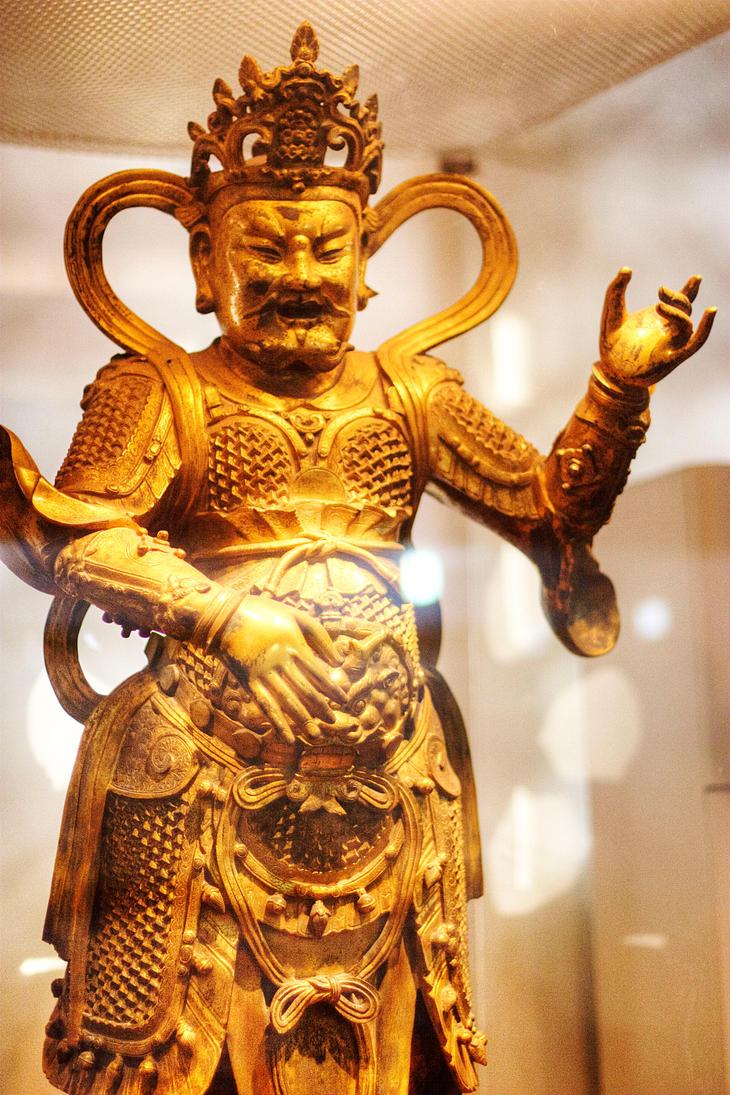 Dhrtarastra Guardian of the East Wanshou Temple by davidmcb