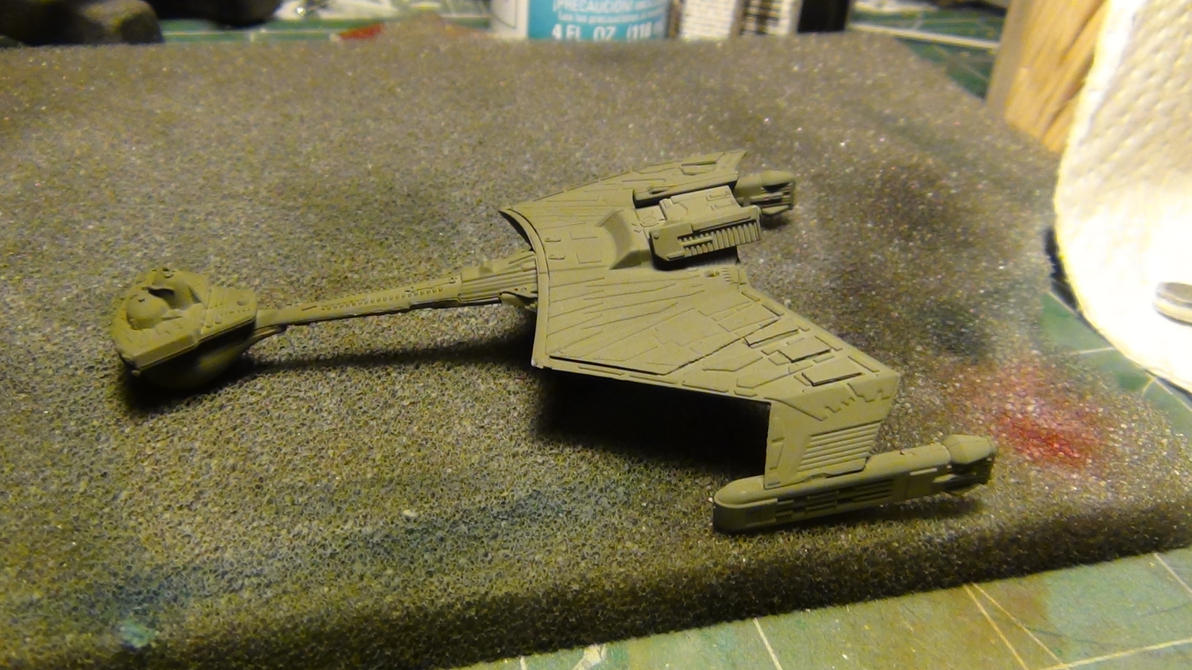 Klingon D-7M  1/2500 scale by THE-WHITE-TIGER