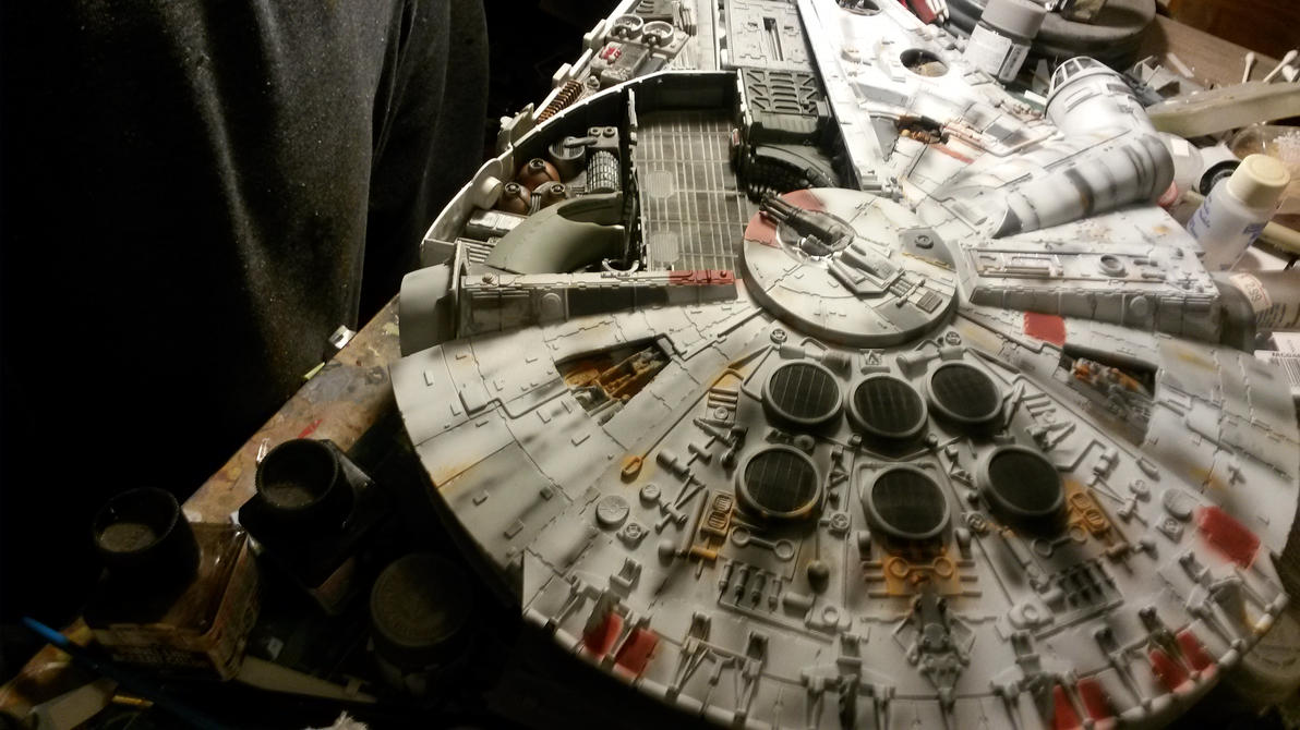 Millenium Falcon Cut-away build 4 by THE-WHITE-TIGER