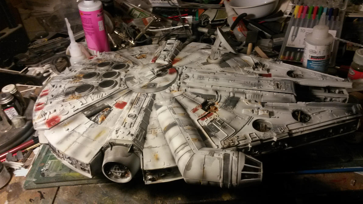 Millenium Falcon Cut-away build 5 by THE-WHITE-TIGER