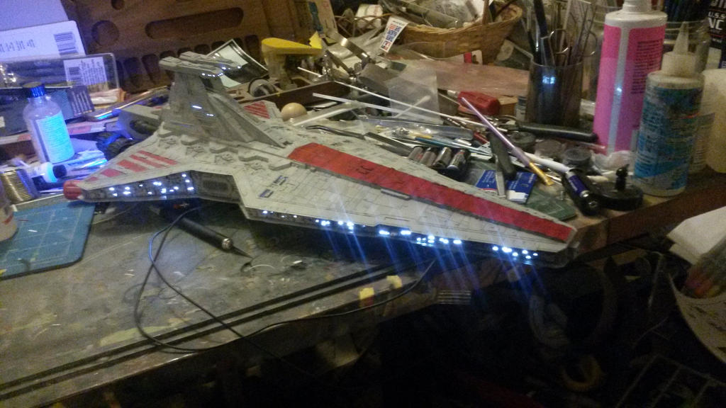 Republic Venator Star Destroyer by THE-WHITE-TIGER