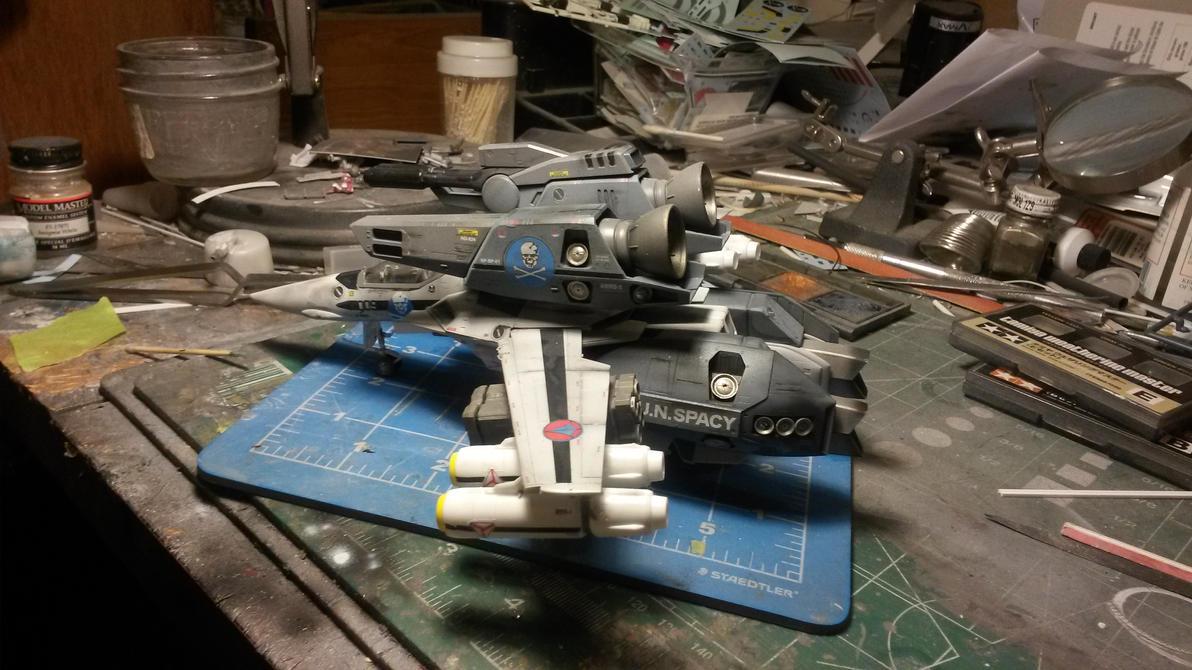 VF-1S Strike Valkyrie 4 by THE-WHITE-TIGER