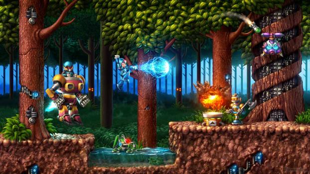 Mega Man X - Sting Chameleon's Stage