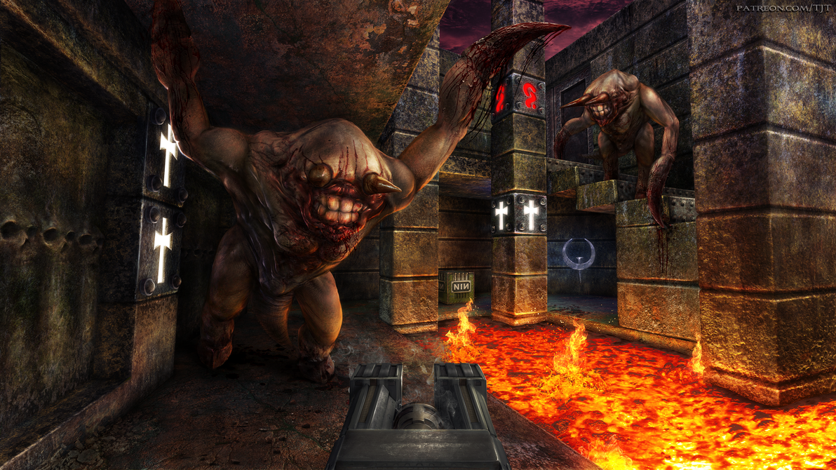 Quake - Battle Against the Two Fiends by Elemental79 on ... Quake Fiend