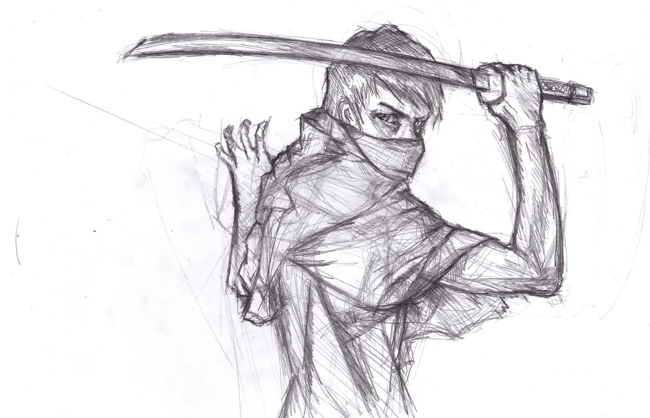 anime ninja drawings sketch coloring page card from user barbolin