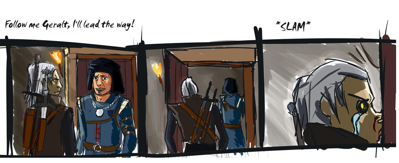 Witcher comic rough by Vimes-DA