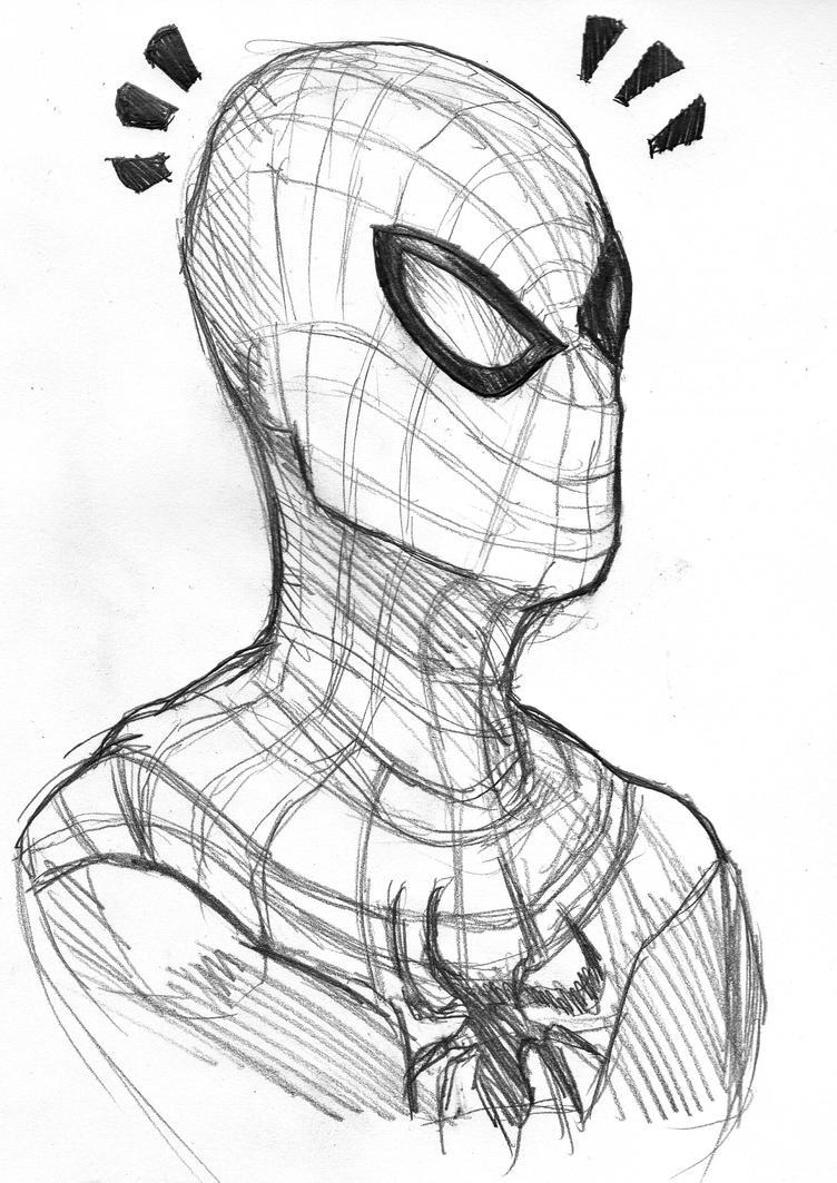Spiderman Face Line Drawing : Spiderman sketch by vimes da on deviantart