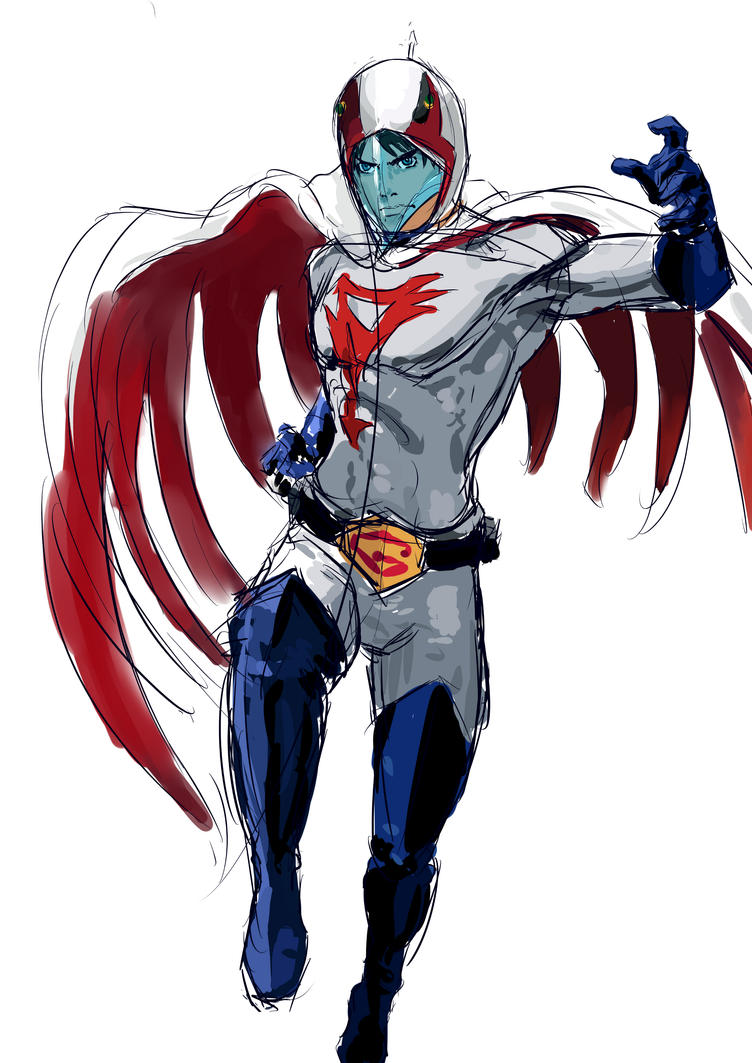 G Force Cartoon Characters : Gatchaman daily sketch by vimes da on deviantart
