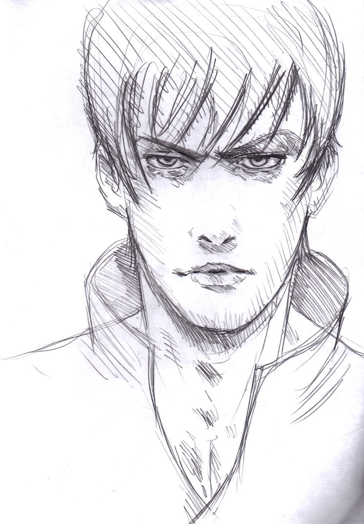 face sketch cool pose by vimes da on deviantart