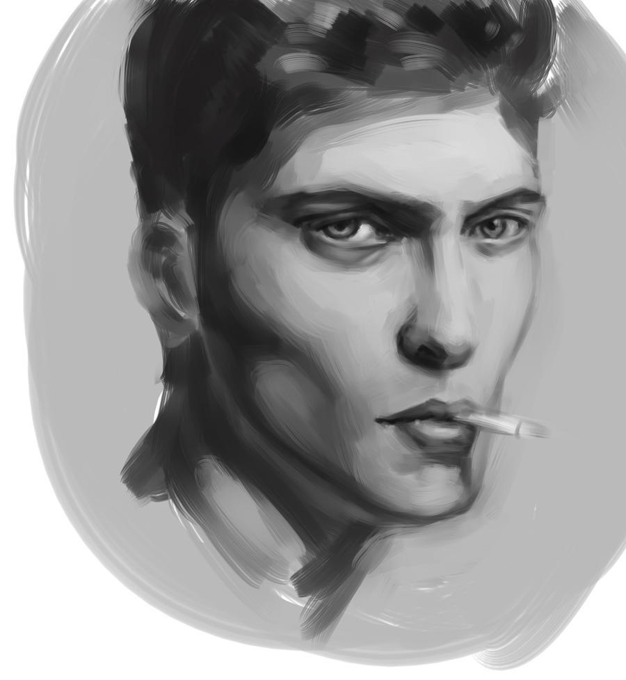 portrait study sai1 wip by Vimes-DA