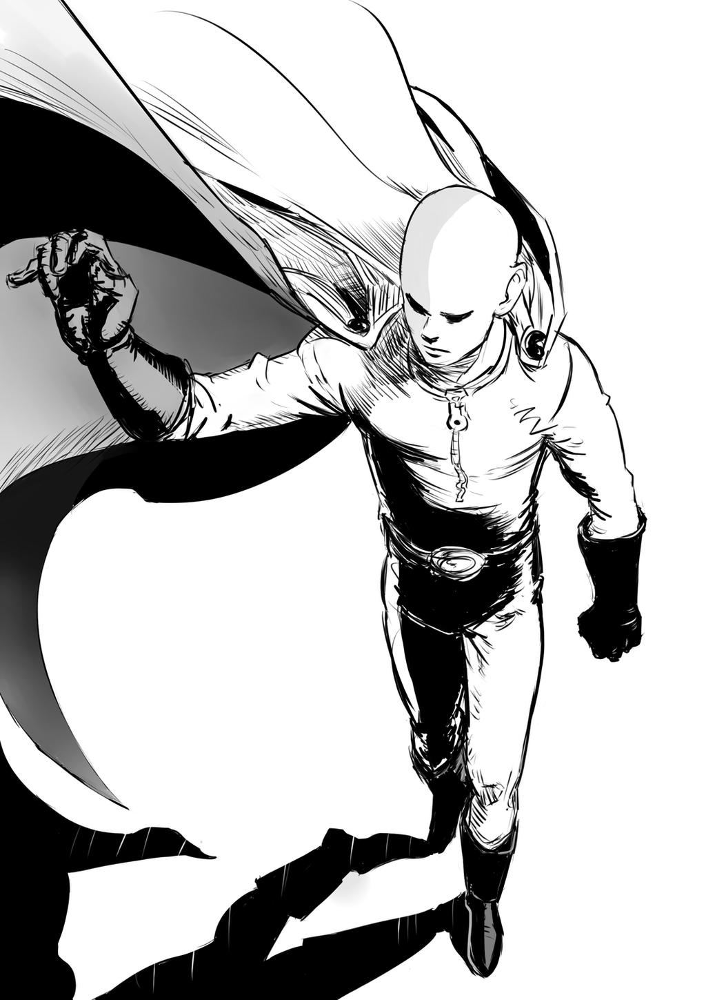 One punch man Saitama by Vimes-DA on DeviantArt