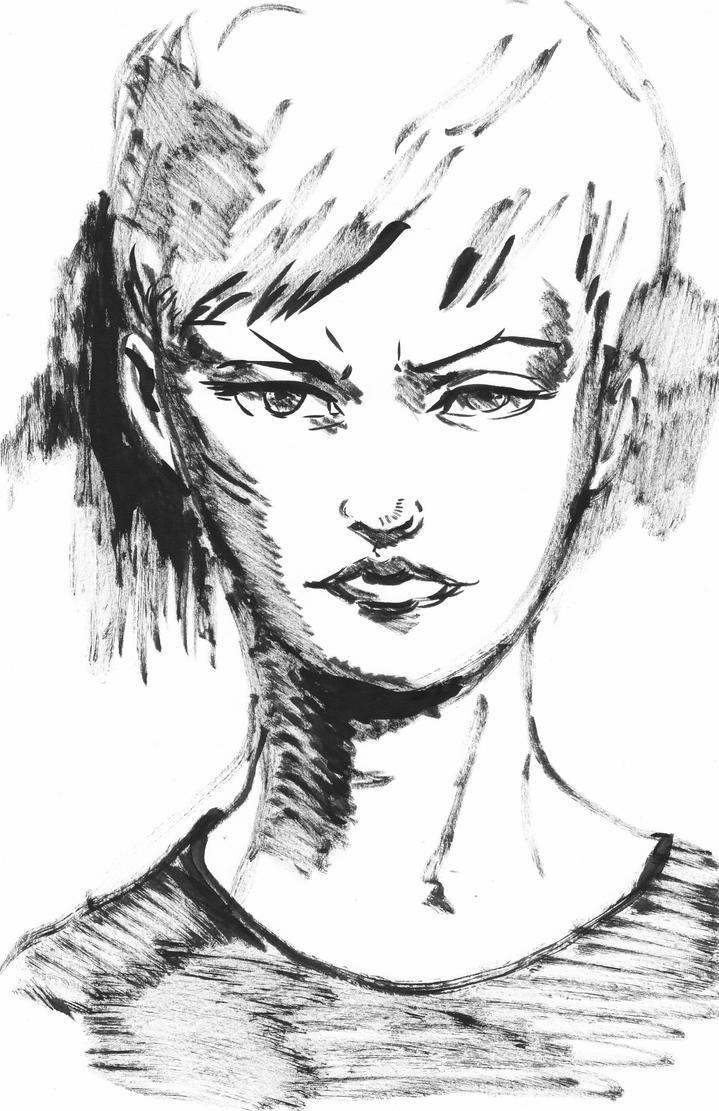 random brush pen sketch by Vimes-DA