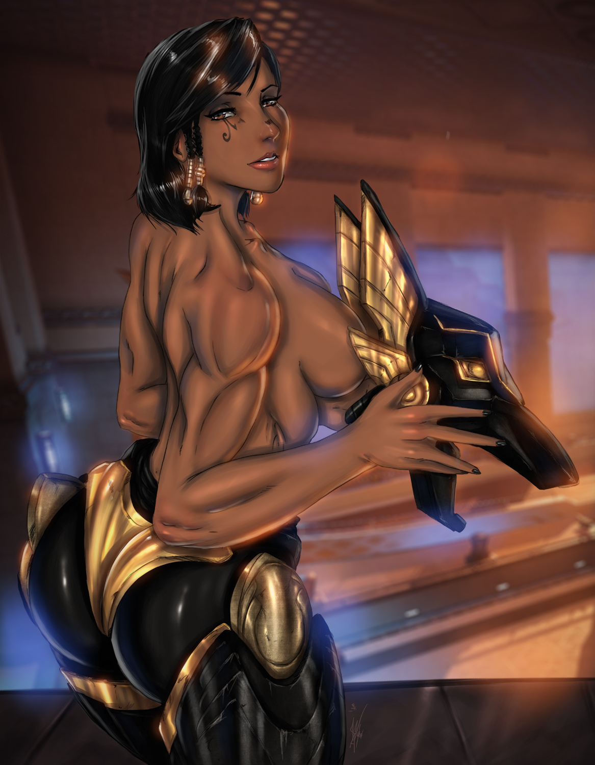 Anubis Pharah suiting up by Ultamisia
