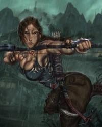 Lara's bow at the ready by Ultamisia